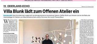 Villa Blunk lädt zum Offenen Atelier ein