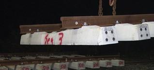 Marschbahn: Weichen an der Eiderbrücke werden erneuert