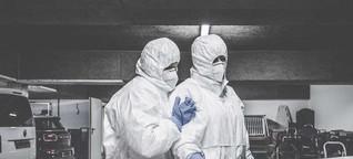 Tod durch Corona-Infektion: Abschied vom Vater in einer Stuttgarter Tiefgarage