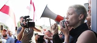 """Maria Kolesnikowa: """"Symbol der Proteste und der Belarusen"""""""