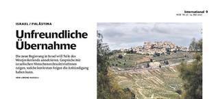 Unfreundliche Übernahme: Die Regierung in Israel will Teile des Westjordanlandes annektieren.