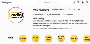 Aufbau Instagram-Kanal Radio Bamberg