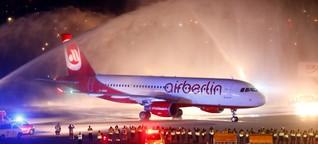 Air Berlin - Letzter Flug - Abschied in Herzform