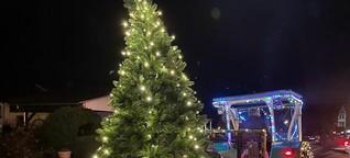 Weihnachtszug brachte Kinderaugen zum Leuchten in und um Niederfischbach
