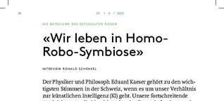 Interview mit Eduard Käser über KI und Lernen im digitalen Zeitalter: «Wir leben in Homo-Robo-Symbiose»