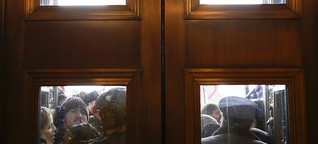 """US-Kapitol: """"Ich hörte Glas bersten, Jubelgeschrei. Dann eine laute Explosion"""""""