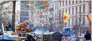 Occupy-Camp in Frankfurt: Ich zelte, also bin ich