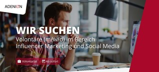 Volontär/in im Bereich Influencer-Marketing und Social Media (m/w/d)