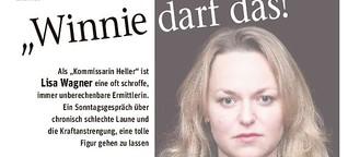 """Lisa Wagner nimmt Abschied von ihrer """"Kommissarin Heller"""""""