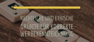 Werbe-Kennzeichnungspflicht für Blogs und im Journalismus [1]