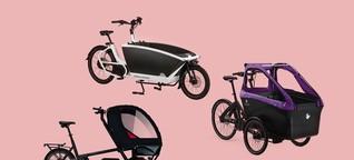 Lastenrad-Test: So familientauglich sind Cargobikes