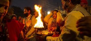 Verschmutzung des Ganges in Indien