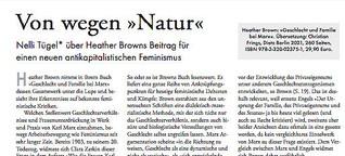 »Von wegen ›Natur‹« – über Heather Browns Beitrag für einen neuen antikapitalistischen Feminismus