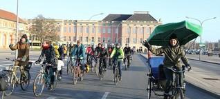 Fahrraddemo in Potsdam am Neujahrstag