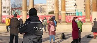 Polizei beendet Corona-Proteste vor Potsdamer Landtag