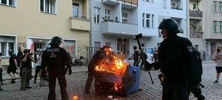 """""""Irrer Protest"""" auf der Straße des 17. Juni und Ausschreitungen in Neukölln"""