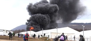 Flüchtlingscamp abgebrannt: Über 1200 Menschen schutzlos bei Minusgraden