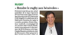 """Florian Grill : """"Rendre le rugby aux bénévoles"""""""