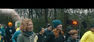 Läufer trotzen dem Regen: AOK-Winterlaufserie im Bürgerpark
