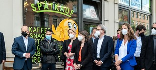 Gedenkkultur in Halle: Kurz bevor die Limousinen anrollen