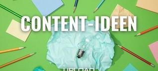 Über 30 Anregungen für mehr (und bessere) Content-Ideen