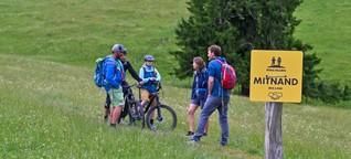 Mountainbike, Wandern, Natur - Wege für ein Miteinander