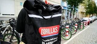 Türschlösser von Gorillas-Filialen in Berlin verklebt