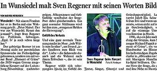 "Song-Poet Sven Regener und seine Band ""Element of Crime"" in Wunsiedel"