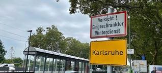 Warum dieses Schild an so vielen Karlsruher Ortseingängen steht