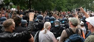 Disziplinarverfahren gegen Polizisten, der mit Querdenkern demonstrierte