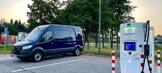 Ladekurve - Mercedes-Benz eSprinter (10 bis 100 Prozent) - Saving-Volt