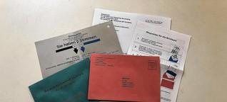 Initiative bringt Unterlagen in den Umlauf, die den Briefwahlunterlagen zur Bundestagswahl ähneln