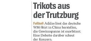 Trikots aus der Trutzburg