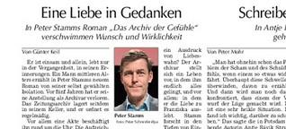 """Rezension Peter Stamm """"Das Archiv der Gefühle"""""""