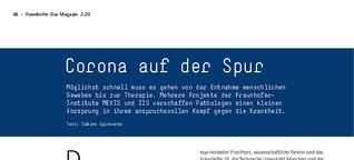 Fraunhofer Magazin: Corona auf der Spur