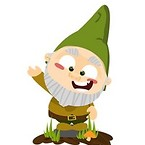 Green home gnome character 2